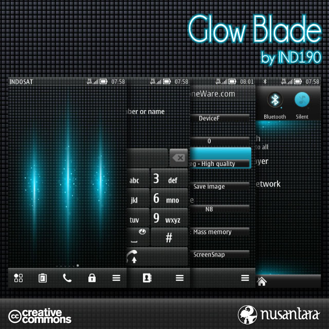 Theme For Nokia Belle Glow Blade B by IND190