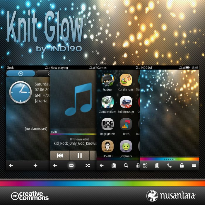 Theme for Nokia Belle KNIT GLOW by IND190