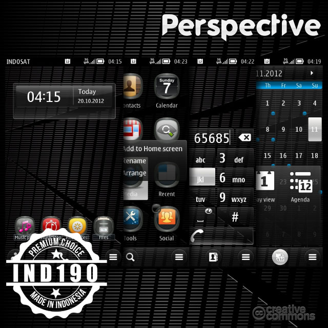 perspective prev1 Nokia Belle Theme   Perspective 1.0 by IND190