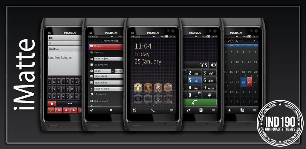 features imatte3 Theme Nokia Belle  iMatte 1.0 SE by IND190
